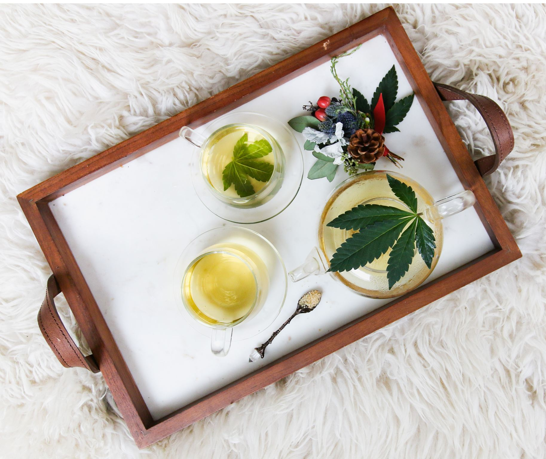 Terpinolele terpenes occur in tea tree and cannabis