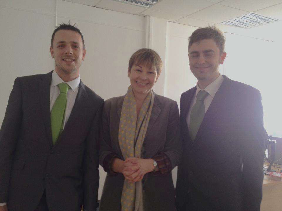 caroline Lucas, Keiron reeves and clark french