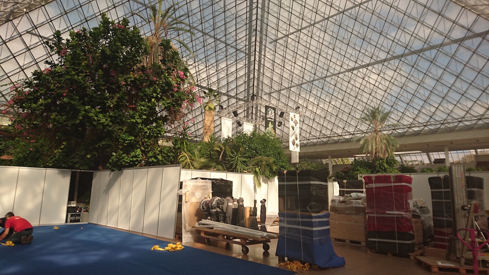 cultiva has a big glass pyramid expo hall