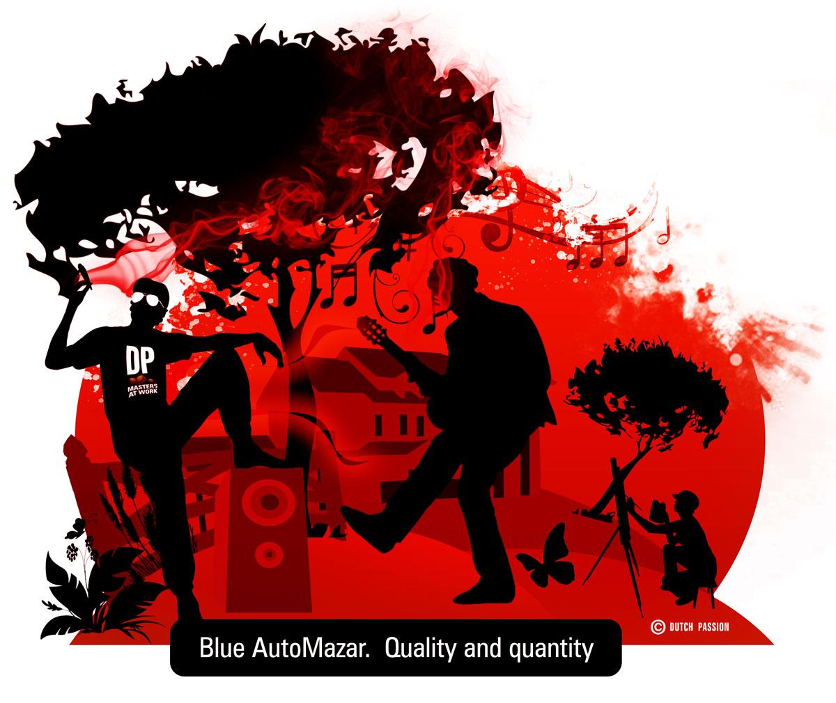 blue automazar cartoon