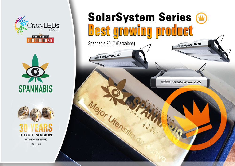 'Best Cultivation Product' for Crazy LEDs with the SolarSystem LED grow lights