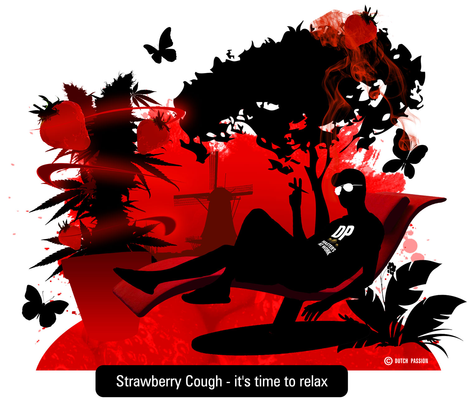 stawberry cough artwork, relax baby