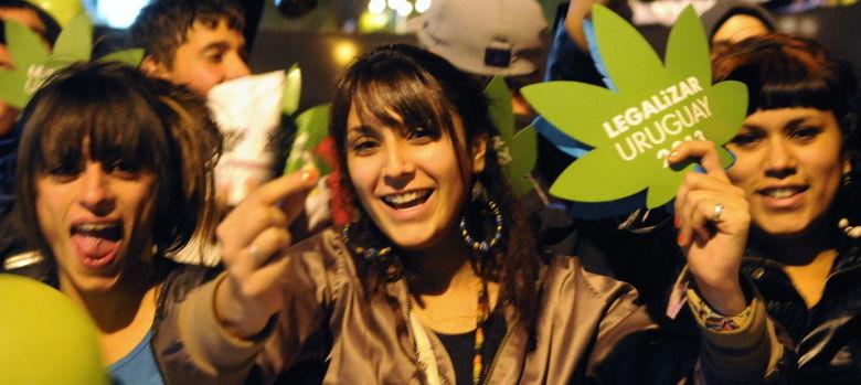 uruguayan protestors demand legal weed