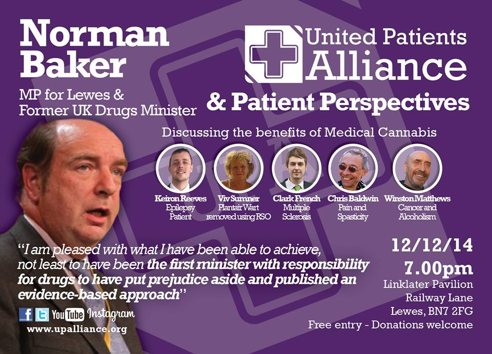 MP Norman Baker to speak about cannabis