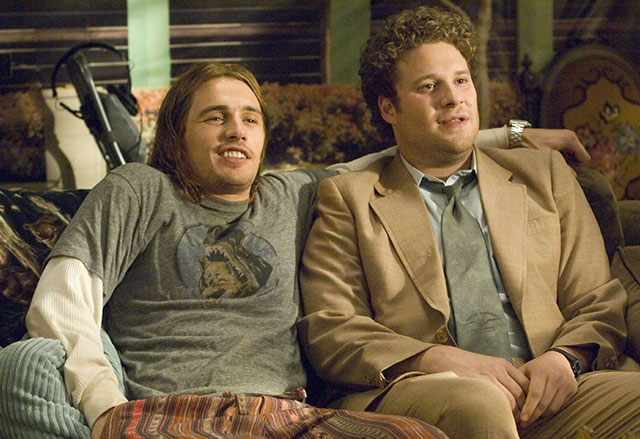 Pineapple Express, the 2 cannabis loving buddies Seth Rogan and James Franco