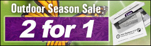 2 for 1 outdoor season promo