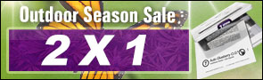 2x1 Outdoor Season Sale